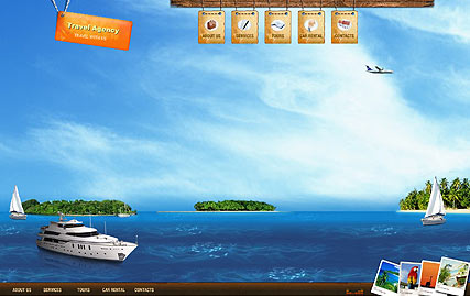 best travel flash site template