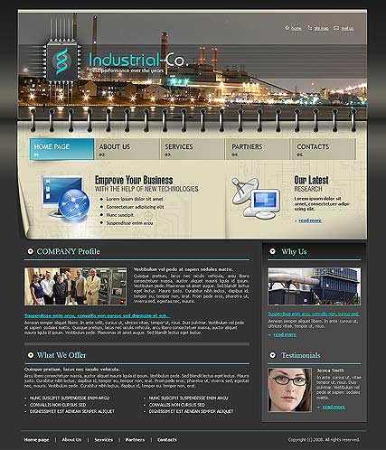 Web Design from Text Over Technology