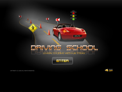 driving school dynamic flash template