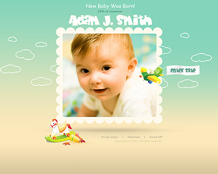 My Baby Flash Photo & Video Gallery Template