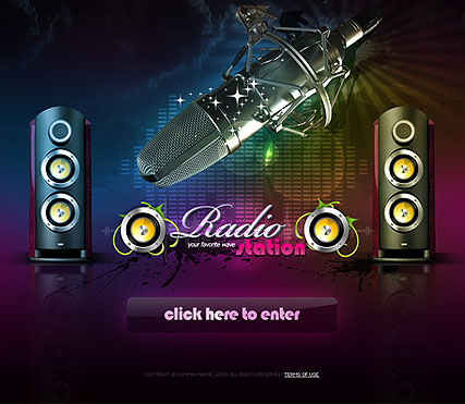 Radio Station Website Template Information