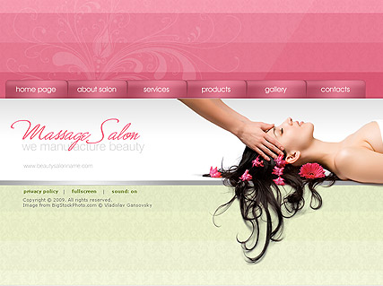 massage salon dynamic flash template