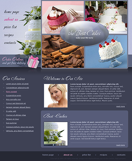 Best Cakes Website Template