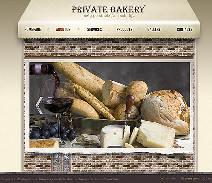 Bakery Dynamic Flash Template