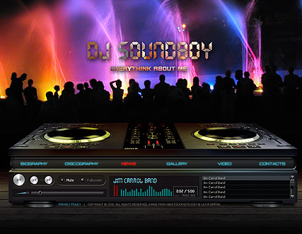 Dj Soundboy Website Template Information