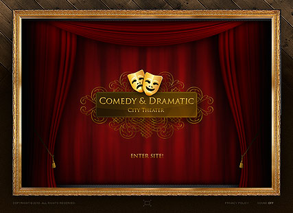 Theater dynamic flash template dramatic theater dynamic flash template toneelgroepblik Image collections