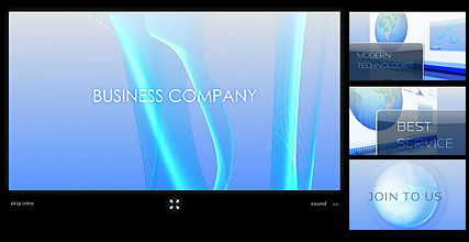 Business Company Flash Intro Template