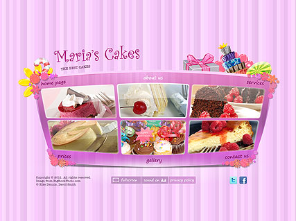 Best Cakes Dynamic Flash Template