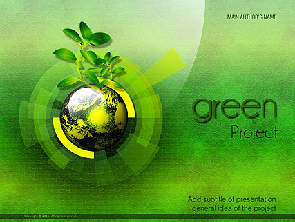 Green Project Powerpoint Template
