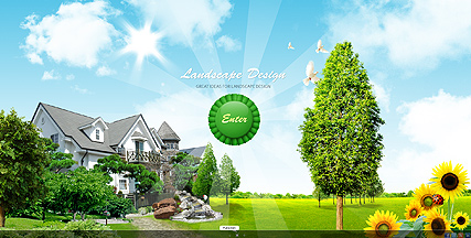Landscape Design Flash Video Gallery Template,Personalized T Shirt Design For Burial