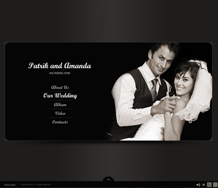 Our Wedding Website Template Information