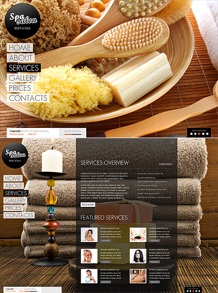Spa Salon HTML5 Template