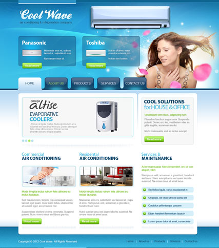 Conditioning v2.5 Joomla Template
