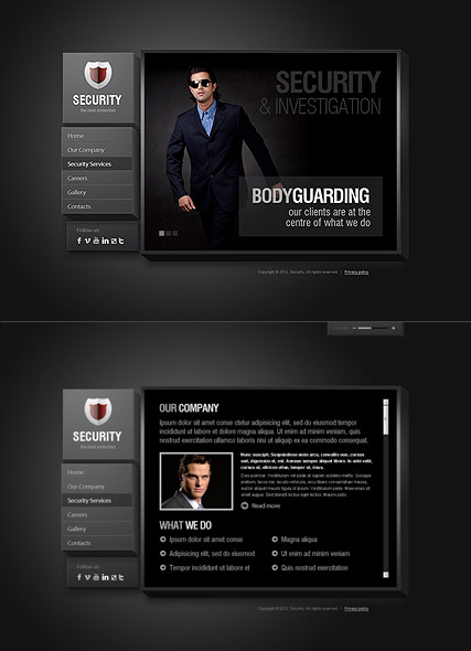Security Service HTML5 Template