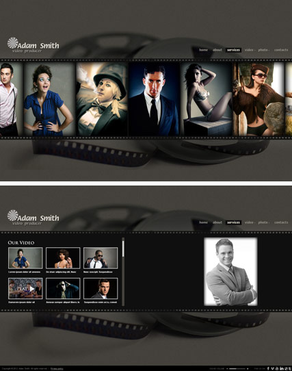 Producer HTML5 Photo & Video Gallery Template