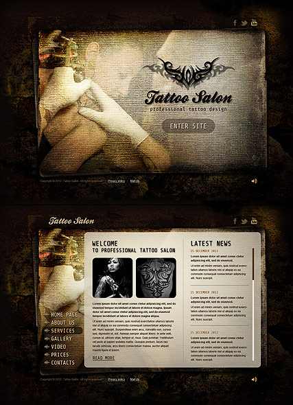 Tattoo Salon HTML5 Template