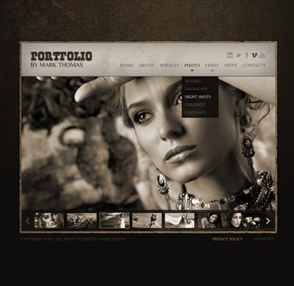 Photographer HTML5 Photo Video Gallery Template