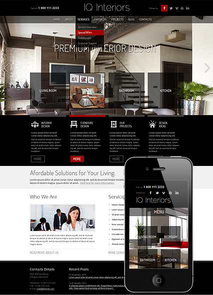 Interior Design Wordpress Template