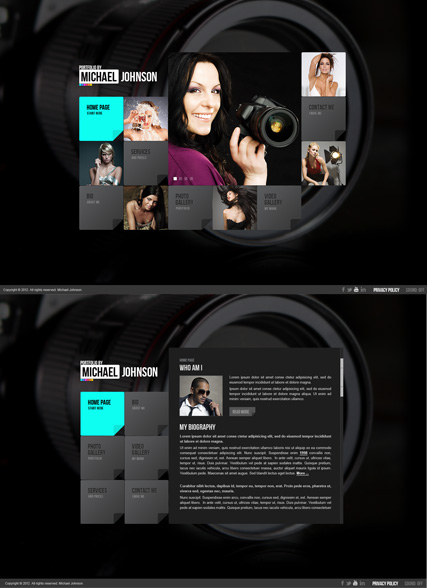 Portfolio by HTML5 Photo & Video Gallery Template