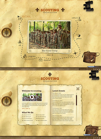 Scouting HTML5 Template