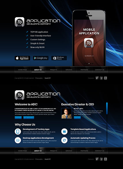 Software Developer HTML5 Template