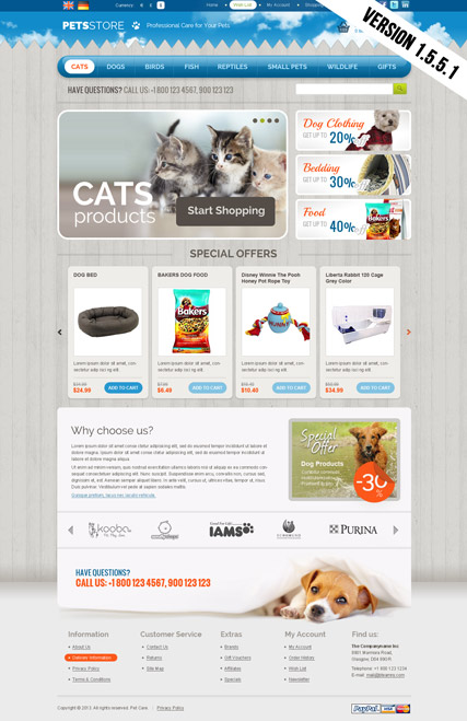 Pets Store OpenCart Template - OpenCart Community
