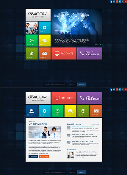 4 Communication HTML5 Template