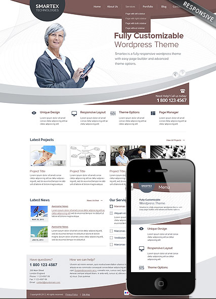Business Corp Wordpress Template