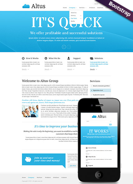 Clean Business HTML Template