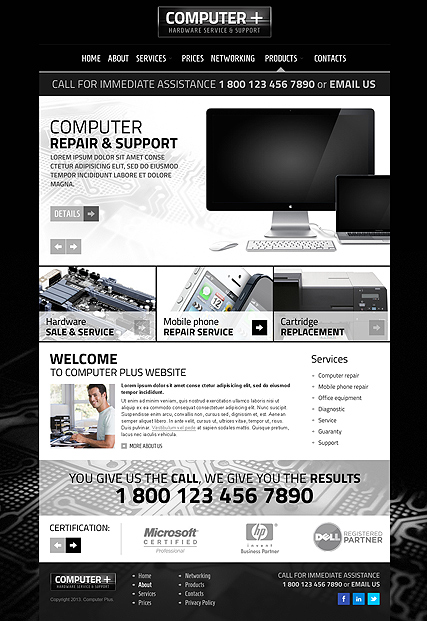 PC Repair v3.1 Joomla Template