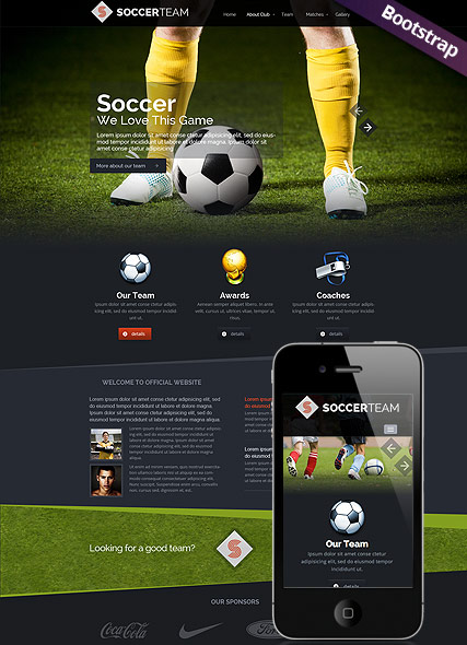 soccer club html template. Black Bedroom Furniture Sets. Home Design Ideas