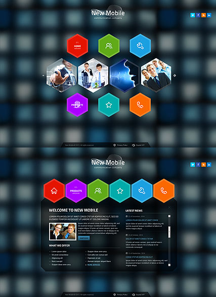 New Communication HTML5 Template