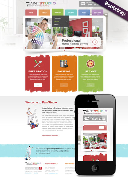 Paint Studio - Exterior & Interior House Painting Website Template ...