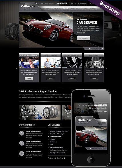 best car repair service responsive html template