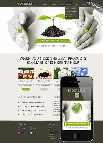 Ecology Products Wordpress Template