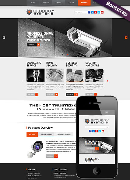 Responsive Security Systems Html Template