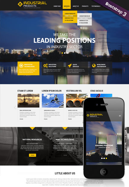 Industrial product HTML Template