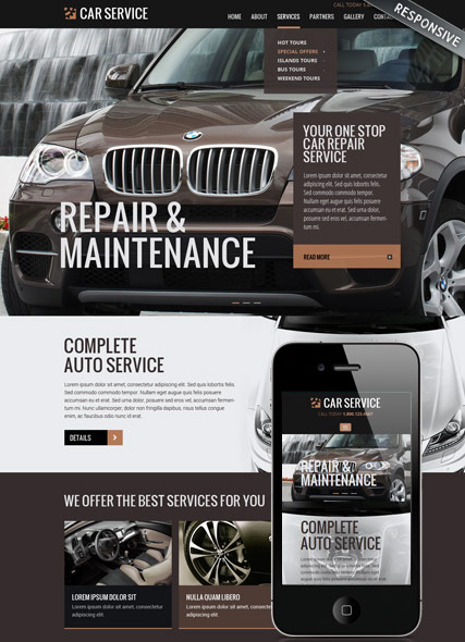 car repair maintenance responsive bootstrap 3 html template. Black Bedroom Furniture Sets. Home Design Ideas