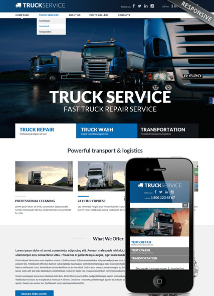 Transportation Company Responsive Bootstrap Template