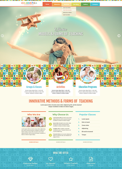 Kindergarten Studio HTML Template