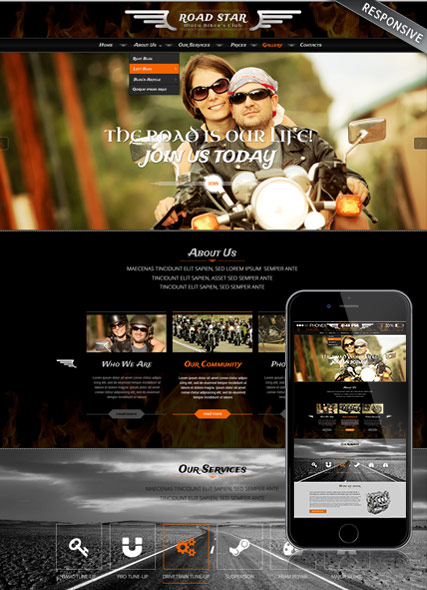 Bikers club HTML Template