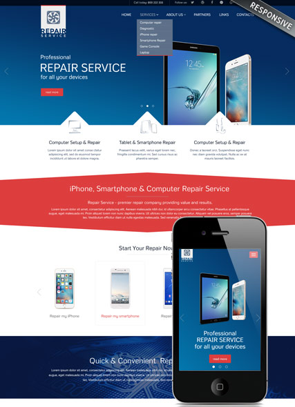 Repair service v3.5 Joomla Template