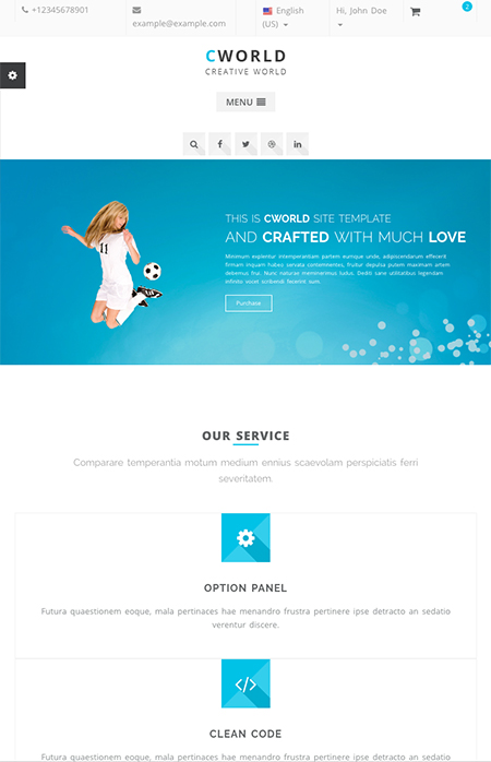 CWorld - Multi-Purpose HTML Template