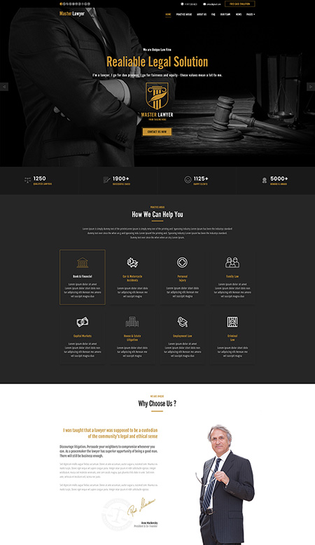 Lawyer HTML Template